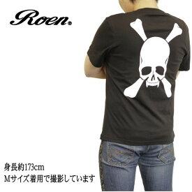 Roen ロエン Tシャツ メンズ 半袖 バック/ビッグ/スカル ドクロ ブラック ROA-001