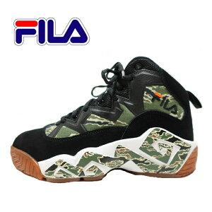 FILA フィラ スニーカー バスケットシューズ 迷彩/カモフラ シューズ/靴 メンズ バッシュ ハイカット ブランド MB 1BM01266-017