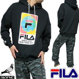 FILA フィラ staple ステイプル コラボ パーカー メンズ/レディース 長袖 ブラック サイズS-XL