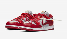 OFF-WHITE × NIKE DUNK LOW (RED)