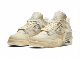 OFF-WHITE × NIKE AIR JORDAN 4 SP WMNS (SAIL)