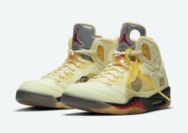 【送料無料】OFF-WHITE NIKE AIR JORDAN 5 (Sail)
