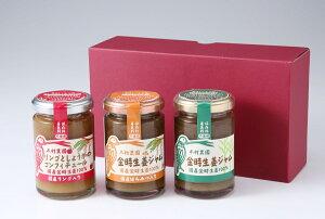 木村農園 金時生姜ジャムセット 国産原料のみ使用 プレーン 蜂蜜入り リンゴ入りの3種類 生姜 しょうが ショウガ ジャム はちみつ 金時生姜 金時しょうが 生姜紅茶 しょうが紅茶 ご