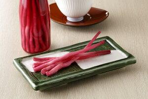 木村農園 矢生姜のシソ梅酢漬け 愛知県産矢生姜を紀州のしそ梅酢に漬けました 太くて食べごたえあり。お料理に添えるだけ。ビールにあいます!70g 袋入り