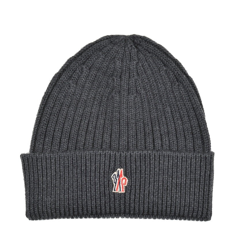 MONCLER GRENOBLE モンクレール グルノーブル グレーヴァージンウールニットキャップ 帽子 イタリア正規品 0025900 新品