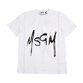 MSGM エムエスジイエム レディース ホワイトロゴ半袖Tシャツ イタリア正規品 新品 2841MDM74