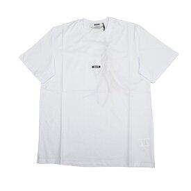 MSGM エムエスジーエム ミニロゴホワイト半袖Tシャツ 2940MM162 イタリア正規品 メンズ 新品