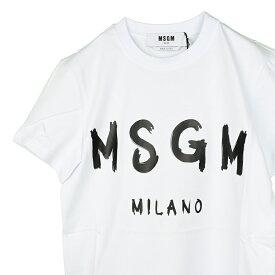 MSGM エムエスジイエム レディース ホワイトロゴ半袖Tシャツ イタリア正規品 新品 2941MDM60