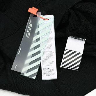 OFF-WHITEオフホワイトスリムブラックパーカーイタリア正規品OMBB034E19D250191001新品