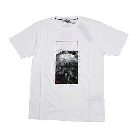 STONE ISLAND ストーンアイランド ホワイト半袖Tシャツ メンズ 70152NS85 イタリア正規品 新品