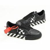 OFF-WHITEオフホワイトLOWVULCANIZEDローカットレザースニーカー靴イタリア正規品OMIA085F19D680011001新品