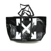 OFF-WHITEオフホワイトARROWSブラックトートバッグ鞄OWNA094F19F590861001イタリア正規品新品