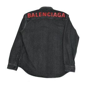 BALENCIAGA バレンシアガ メンズ ロゴグレーデニムシャツ イタリア正規品 571365 TBP19 5802 新品