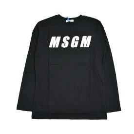 MSGM エムエスジーエム キッズ ブラック長袖Tシャツ イタリア正規品 新品 016506