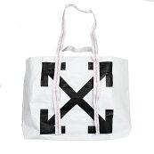 OFF-WHITEオフホワイトARROWSホワイトトートバッグ鞄OWNA094F19F590860110イタリア正規品新品