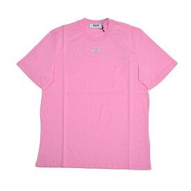 MSGM エムエスジイエム レディース ピンクロゴビッグシルエット半袖Tシャツ イタリア正規品 新品 2641MDM179