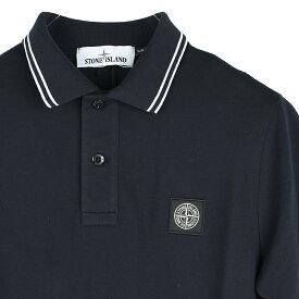 STONE ISLAND ストーンアイランド ネイビー半袖ポロシャツ メンズ 101522S18 イタリア正規品 新品