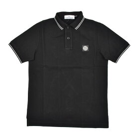 STONE ISLAND ストーンアイランド ブラック半袖ポロシャツ メンズ 101522S18 イタリア正規品 新品