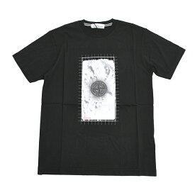STONE ISLAND ストーンアイランド ブラック半袖Tシャツ メンズ 70152NS87 イタリア正規品 新品