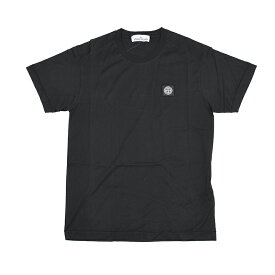 STONE ISLAND ストーンアイランド ブラック半袖Tシャツ メンズ イタリア正規品 721524113 新品