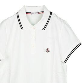 MONCLER モンクレール ホワイト半袖ポロシャツ レディース イタリア正規品 2018SS 8386000