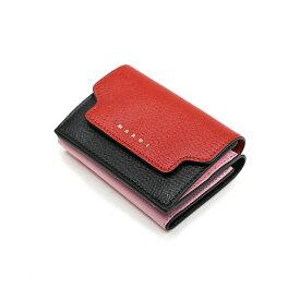 MARNI マルニ レディース 三つ折りミニ財布 イタリア正規品 PFMOW02U09 LV520 Z253N 新品