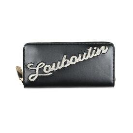 CHRISTIAN LOUBOUTIN クリスチャンルブタン ブラックラウンドファスナー長財布 イタリア正規品 3195303 B045 新品