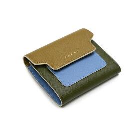 MARNI マルニ レディース 3つ折り財布 イタリア正規品 PFMO0024U0 LV520 Z274I 新品