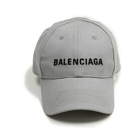 BALENCIAGA バレンシアガ メンズ グレーロゴキャップ 帽子 イタリア正規品 新品 590758 410B2 1460
