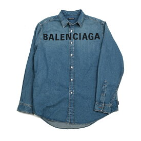 BALENCIAGA バレンシアガ メンズ ロゴデニムシャツ イタリア正規品 600280 TYE24 4065 新品