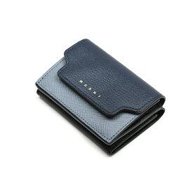 MARNI マルニ レディース 三つ折りミニ財布 イタリア正規品 PFMOW02U09 LV520 Z256N 新品