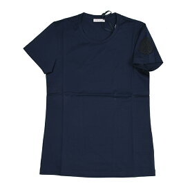 MONCLER モンクレール ネイビー半袖Tシャツ レディース イタリア正規品 8086261 V8002 新品