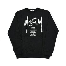 MSGM エムエスジーエム キッズ ロゴブラックスウェット イタリア正規品 新品 022082