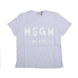 MSGM エムエスジイエム レディース グレーロゴ半袖Tシャツ イタリア正規品 新品 2641MDM60