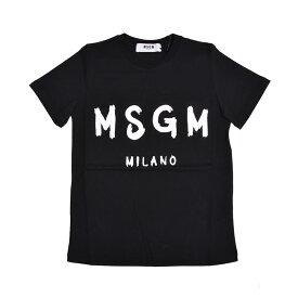 MSGM エムエスジイエム レディース ブラックロゴ半袖Tシャツ イタリア正規品 新品 2641MDM60