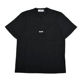 MSGM エムエスジーエム ブラック半袖Tシャツ 2740MM162 イタリア正規品 メンズ 新品