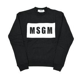 MSGM エムエスジーエム レディース BOXロゴブラックスウェット 2841MDM96 イタリア正規品 新品
