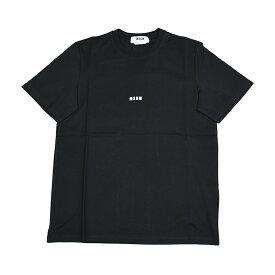 MSGM エムエスジーエム ミニロゴブラック半袖Tシャツ 2940MM162 イタリア正規品 メンズ 新品