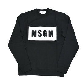 MSGM エムエスジーエム ブラックBOXロゴスウェット トレーナー 2940MM68 イタリア正規品 メンズ 新品