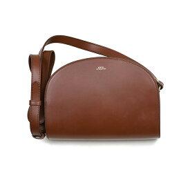 A.P.C. アーペーセー ブラウンハーフムーンバッグ イタリア正規品 新品 鞄 PXADM-F61048 NOISETTE