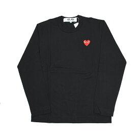 COMME des GARCONS PLAY コムデギャルソン プレイ レッドロゴブラック長袖Tシャツ AZ T118 イタリア正規品 新品