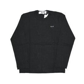 COMME des GARCONS PLAY コムデギャルソン プレイ ロゴブラック長袖Tシャツ AZ T120 イタリア正規品 新品