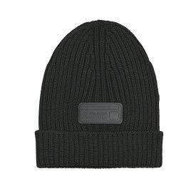 PRADA プラダ ブラックニットキャップ 帽子 UMD429 U97 イタリア正規品 新品