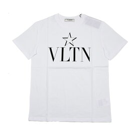VALENTINO ヴァレンティノ レディース VLTN ホワイト半袖Tシャツ イタリア正規品 新品 TB3MG05I5B2