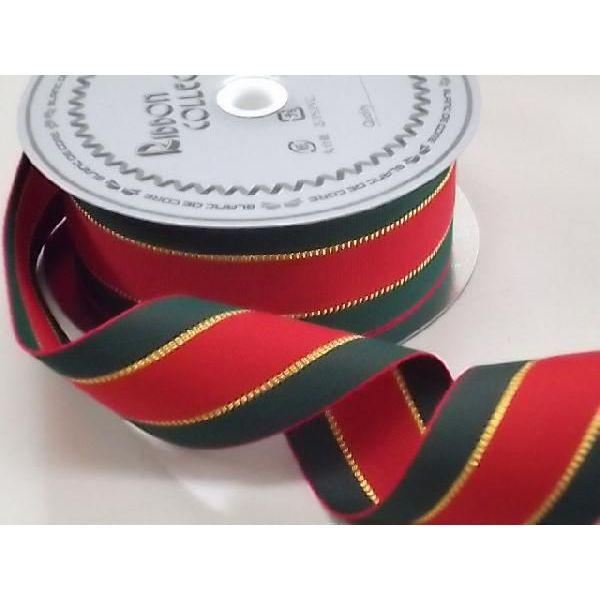 クリスマス グッチリボン(36mm)No.3150-1(15m巻)【ラッピング】【クリスマスデコレーション】