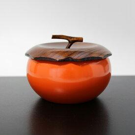 【ポイント5倍】 菓子器 枝付き 柿 木製 漆器 漆塗り かしき 鉢 菓子鉢 菓子入れ
