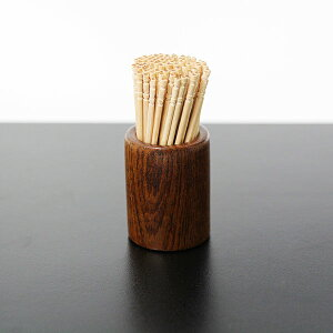 楊枝立て 木製 漆塗り つまようじ入れ 爪楊枝たて