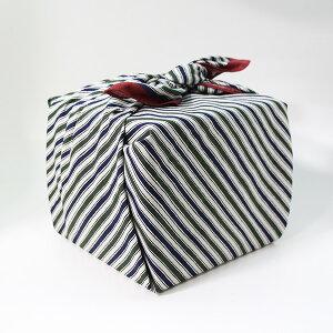 風呂敷 重箱 縞 グリーン いせ辰 90cm 綿100% 日本製 ふろしき 国産 江戸千代紙 大判 バック 和柄