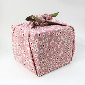 風呂敷 重箱 梅ちらし ピンク いせ辰 90cm 綿100% 日本製 ふろしき 国産 江戸千代紙 大判 バック 和柄