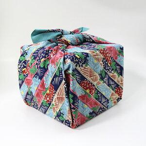 風呂敷 重箱 菊縞 いせ辰 90cm 綿100% 日本製 ふろしき 国産 江戸千代紙 大判 バック 和柄